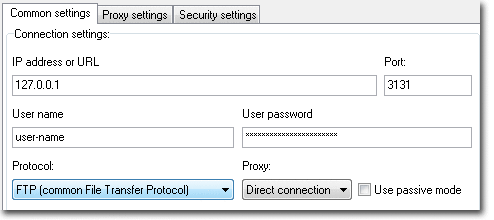 When FTPGetter connect to localhost - PuTTY forward this connection through secure ssh tunnel to remote ftp server